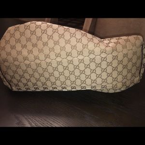 Gucci Large Sukey Beige/Brown Canvas Bag